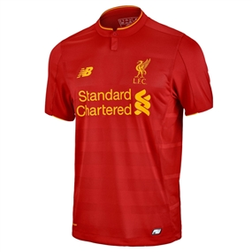 New Balance Liverpool Home '16-'17 Replica Soccer Jersey (Red)