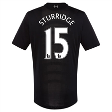 New Balance Liverpool 'STURRIDGE 15' Away '16-'17 Replica Soccer Jersey (Black)