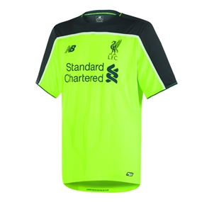 New Balance Liverpool Third '16-'17 Replica Soccer Jersey (Toxic Green/Black)
