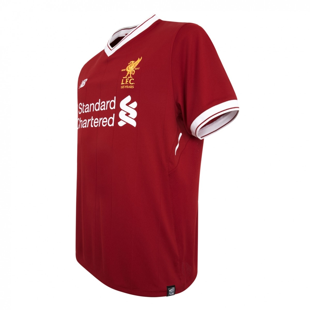 sale retailer 76dfc 852b7 New Balance Liverpool Home Authentic '17-'18 Soccer Jersey (Red)