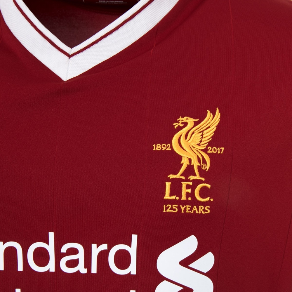 827a8b502 New Balance Liverpool Home Authentic  17- 18 Soccer Jersey (Red ...