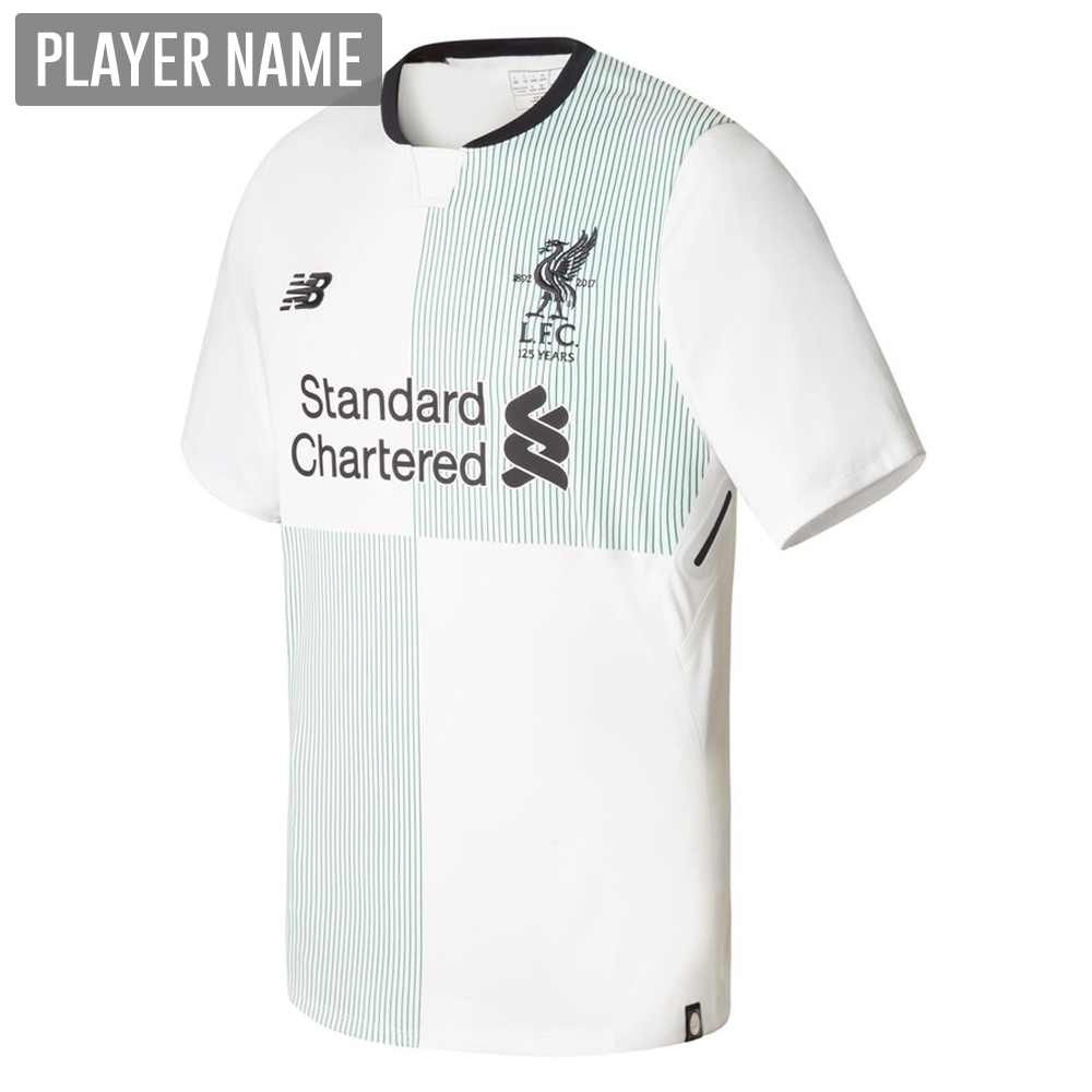 b9c096953 New Balance Liverpool Away  17- 18 Replica Soccer Jersey (White ...
