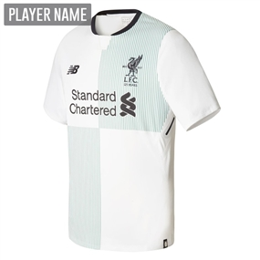 New Balance Liverpool Away '17-'18 Replica Soccer Jersey (White/Green/Black)