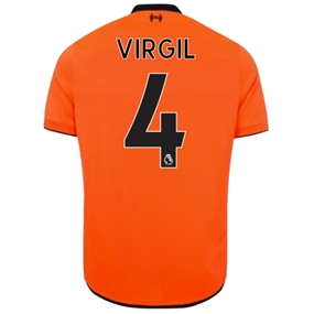 New Balance Liverpool 'VIRGIL 4' Third '17-'18 Jersey (Bold Citrus)