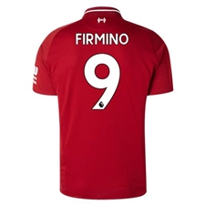 New Balance Liverpool 'FIRMINO 9' Home Jersey '18-'19 (Red Pepper)