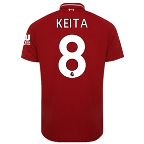 New Balance Liverpool 'KEITA 8' Home Jersey '18-'19 (Red Pepper)
