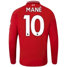 New Balance Liverpool 'MANE 19' Home Long Sleeve Jersey '18-'19 (Red Pepper)