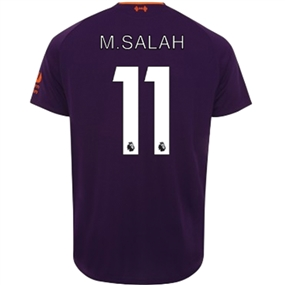New Balance Liverpool 'M. SALAH 11' Away Jersey '18-'19 (Deep Violet)