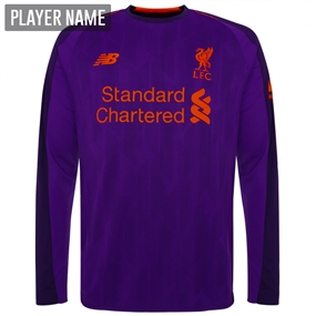 New Balance Liverpool Away Long Sleeve Jersey '18-'19 (Deep Violet)