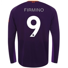 New Balance Liverpool 'FIRMINO 9' Away Long Sleeve Jersey '18-'19 (Deep Violet)