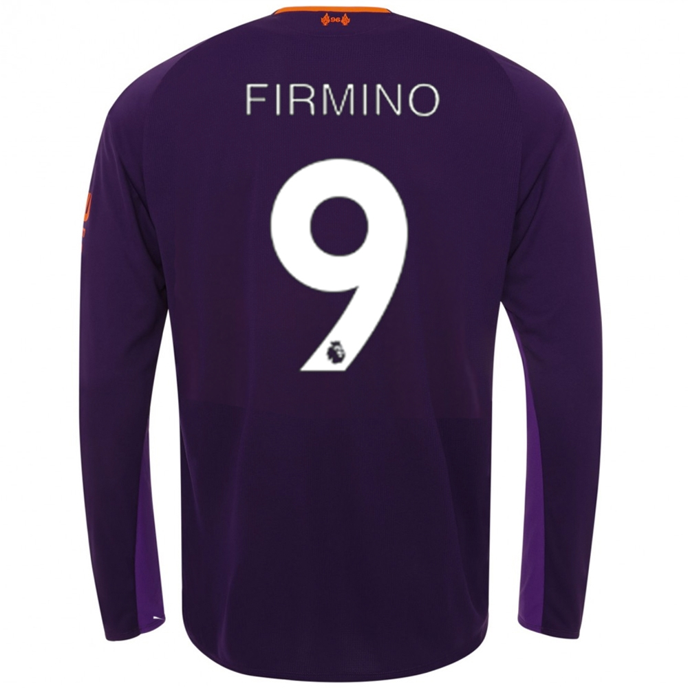 fe0bd53c6 ... cheap new balance liverpool firmino 9 away long sleeve jersey 18 19  145ea dd668