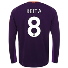 New Balance Liverpool 'KEITA 8' Away Long Sleeve Jersey '18-'19 (Deep Violet)