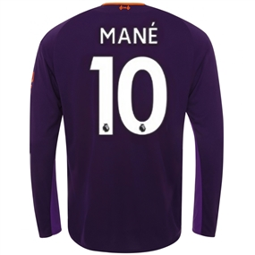 New Balance Liverpool 'MANE 10' Away Long Sleeve Jersey '18-'19 (Deep Violet)