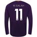New Balance Liverpool 'M. SALAH 11' Away Long Sleeve Jersey '18-'19 (Deep Violet)