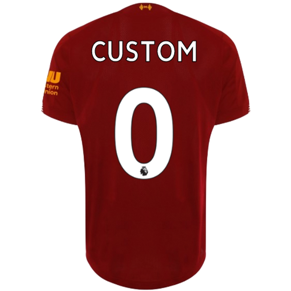 hot sale online eaa52 c3694 New Balance Liverpool 'CUSTOM' Home Jersey '19-'20 (Red Pepper/White)