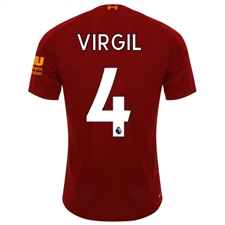 New Balance Liverpool 'VIRGIL 4' Home Jersey '19-'20 (Red Pepper/White)