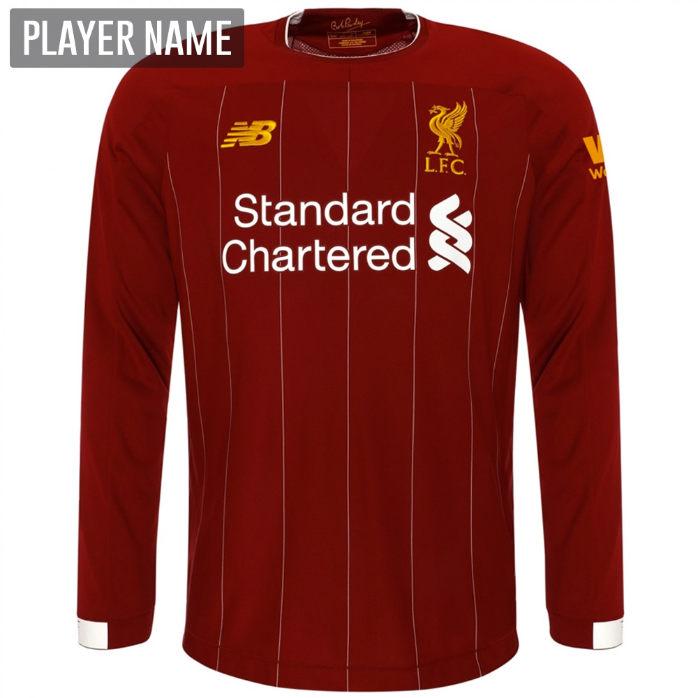 1bcd07f63be New Balance Liverpool Long Sleeve Home Jersey  19- 20 (Red Pepper ...