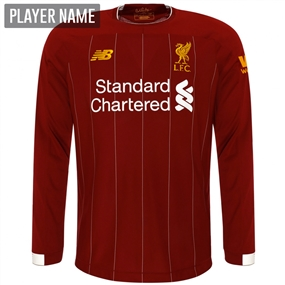 New Balance Liverpool Long Sleeve Home Jersey '19-'20 (Red Pepper/White)