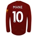 New Balance Liverpool 'MANE 10' Long Sleeve Home Jersey '19-'20 (Red Pepper/White)