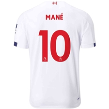 New Balance Liverpool 'MANE 10' Away Jersey '19-'20 (White/Navy/Team Red)
