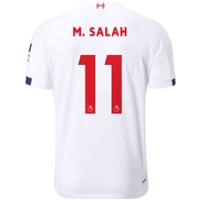 New Balance Liverpool 'M. SALAH 11' Away Jersey '19-'20 (White/Navy/Team Red)