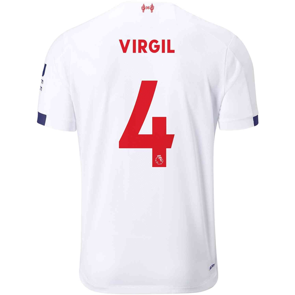 new arrival 9172c 732c9 New Balance Liverpool 'VIRGIL 4' Away Jersey '19-'20 (White/Navy/Team Red)