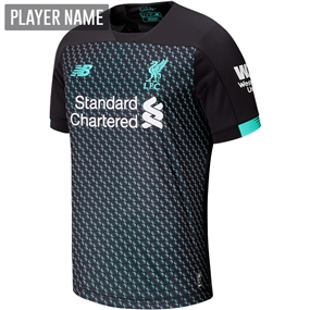 New Balance Liverpool Third Jersey '19-'20 (Black/White/Teal)