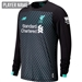 New Balance Liverpool Third Long Sleeve Jersey '19-'20 (Black/White/Teal)