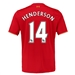 New Balance Liverpool 'HENDERSON 14' Home '15-'16 Replica Soccer Jersey (Red)