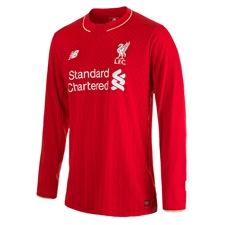 New Balance Liverpool Home '15-'16 Long Sleeve Replica Soccer Jersey (Red)