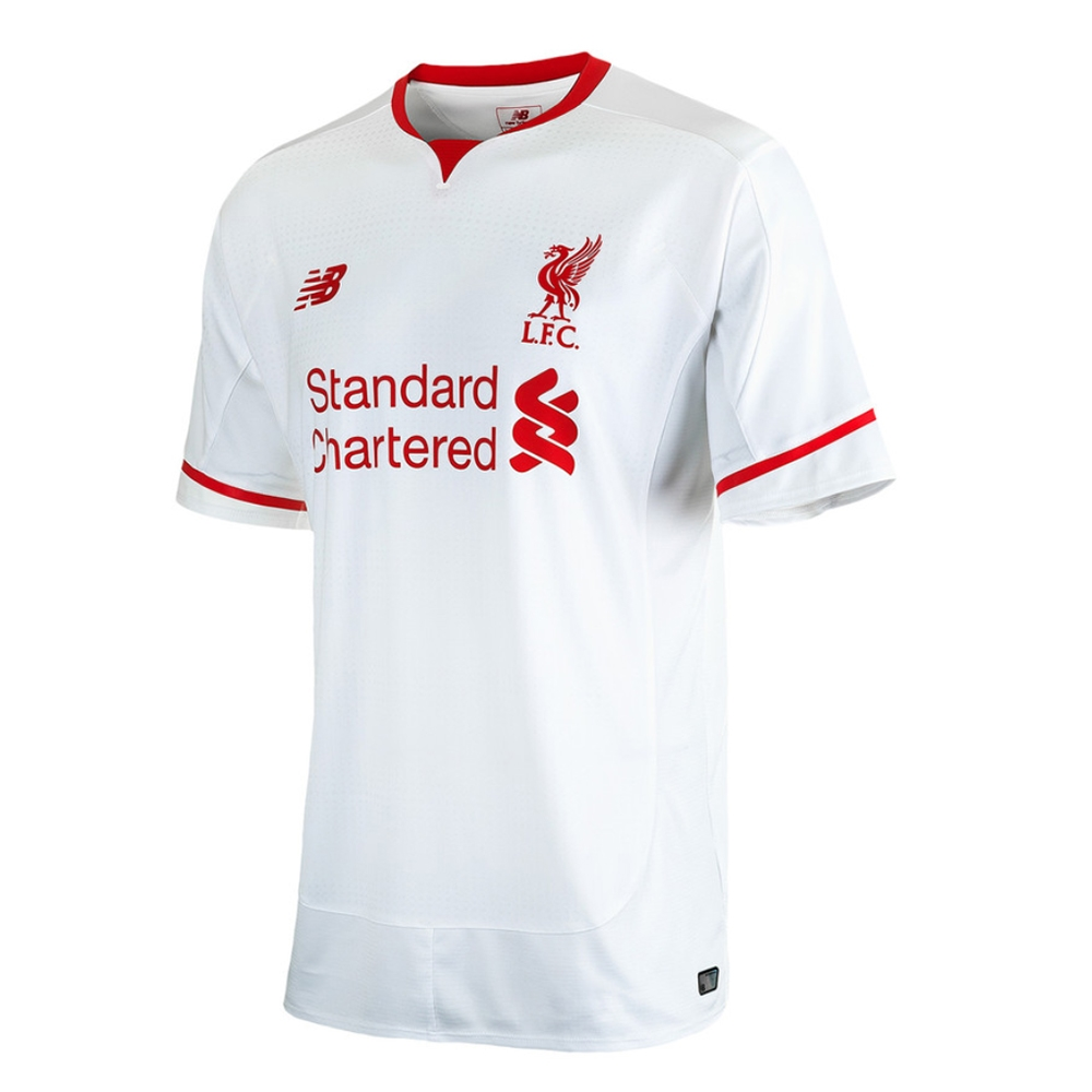 New Balance Liverpool Away  15- 16 Replica Soccer Jersey (White Red ... 84a0461a1