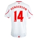 New Balance Liverpool 'HENDERSON 14' Away '15-'16 Replica Soccer Jersey (White/Red)
