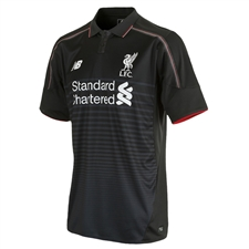 New Balance Liverpool Third '15-'16 Replica Soccer Jersey (Black/Grey)