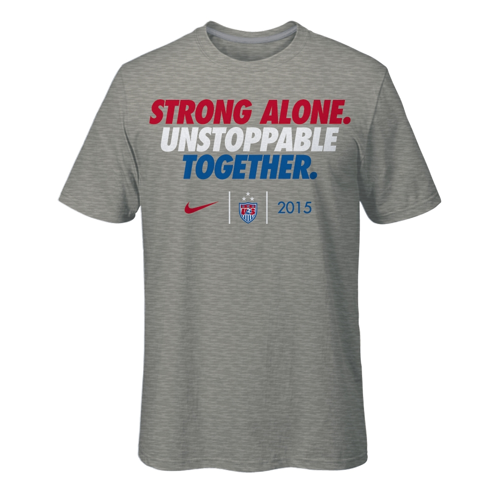 8627c8aad  29.99 Add to Cart for Price - Nike USA USWNT World Cup Slogan Men s  T-shirt (Grey)