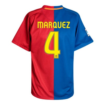 finest selection d5e64 c7030 Nike FC Barcelona Home '08-'09 MARQUEZ #4 Jersey (Blue/Red)
