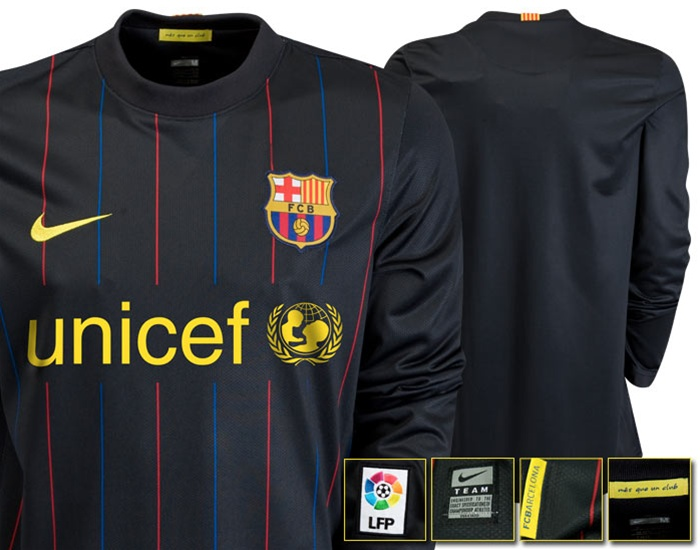 size 40 4bb36 68905 Nike FC Barcelona Home Goalkeeper '09-'10 Jersey  (Black/StormBlue/StormRed/Yellow)