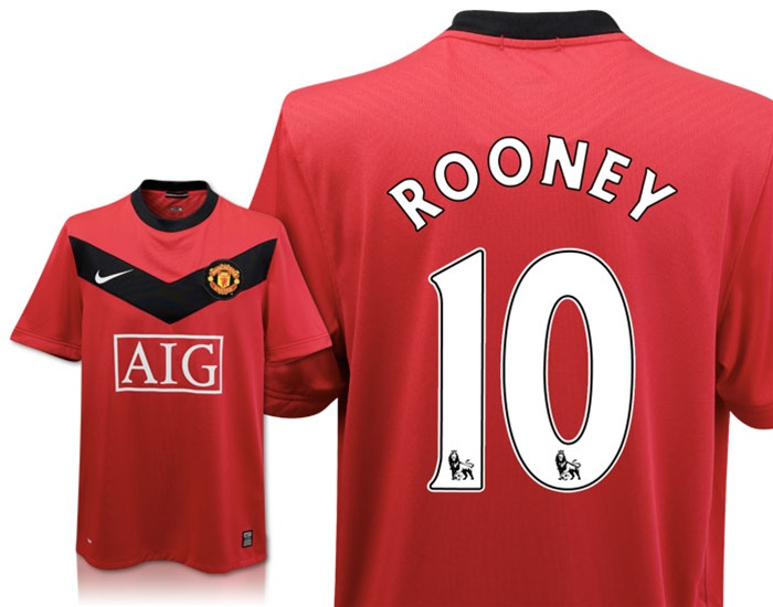 80de8e69d  80.99 - Nike Manchester United Home ROONEY Replica  09- 10 Youth ...