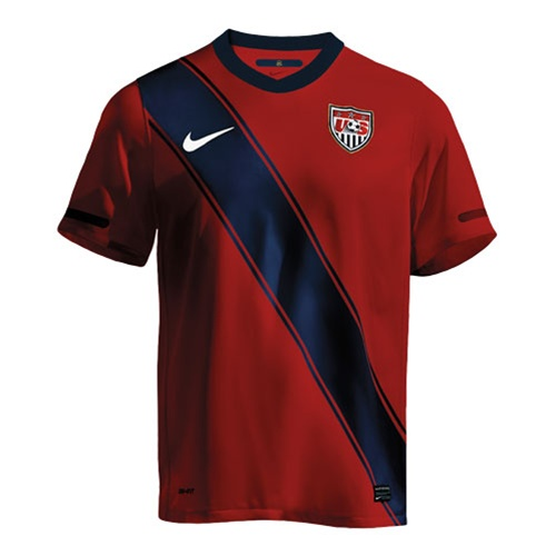 Nike Adult USA 2011 Third Soccer Replica Jersey (Red)