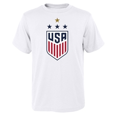 Nike USA Men's 4 Star Crest T-Shirt (White)