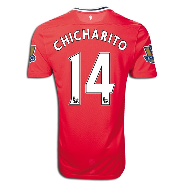 6346e4488a6 $96.98 - Nike Manchester United Home CHICHARITO '2011-2012 Replica ...