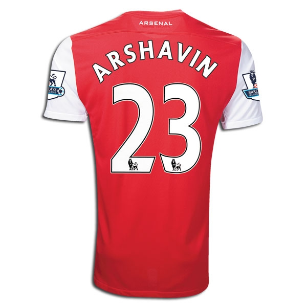 sale retailer e6b7a 2b5ab Nike Arsenal ARSHAVIN Home 2011-2012 Replica Soccer Jersey (Red/White)