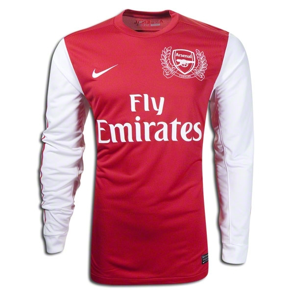 new products 7d981 17afb Nike Arsenal Home Long Sleeve 2011-2012 Replica Soccer Jersey (Red/White)