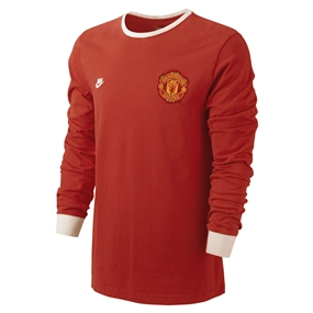 953cc60df Nike Manchester United Covert Vintage Throwback Soccer Tee Shirt (Gym Red)