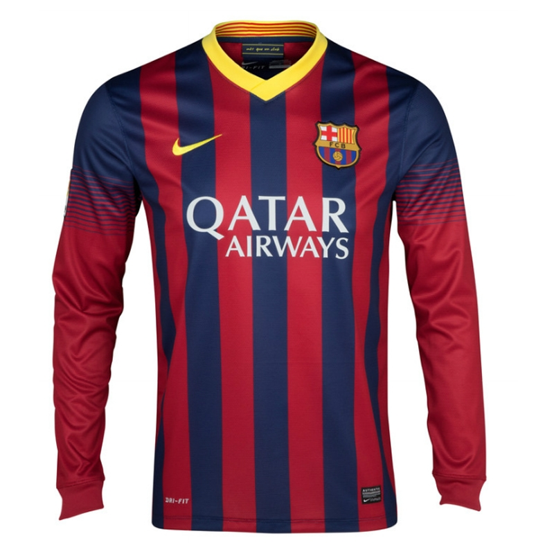 4be4a59e8 Nike FC Barcelona  MESSI 10  2013-2014 Home LS Soccer Jersey ...
