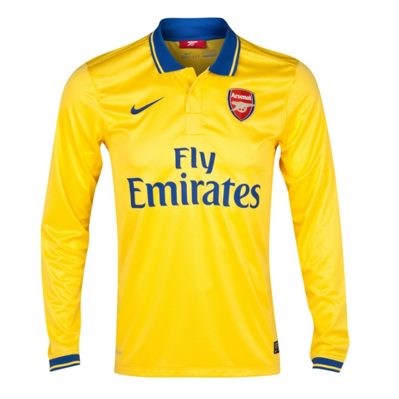 factory authentic 58efa 586e6 Nike Arsenal 'OZIL 11' Away '13-'14 Long-Sleeve Replica Soccer Jersey  (Midwest Gold)