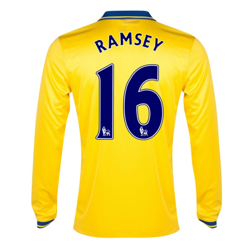 separation shoes 72f3c 77fb2 Nike Arsenal 'RAMSEY 16' Away '13-'14 Long-Sleeve Replica Soccer Jersey  (Midwest Gold)
