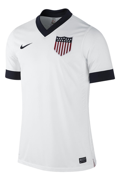 Nike USA Authentic Centennial 2013 Home Soccer Jersey (Football White)