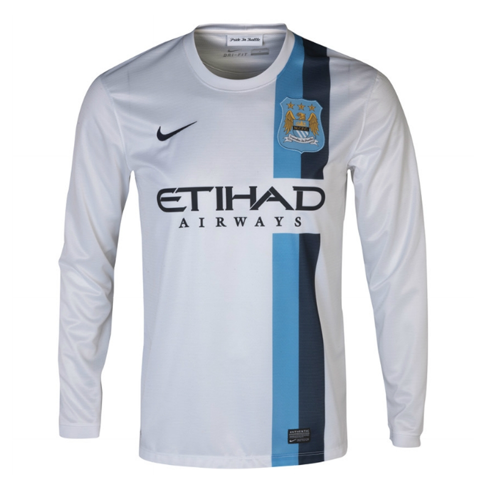 SALE  54.95 - Nike Manchester City Third  13- 14 Long Sleeve Replica ... 9005f514a594