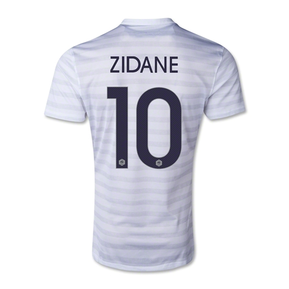f31a0374e SALE  99.95 -Nike France 2014  ZIDANE 10  Away Replica Soccer Jersey ...
