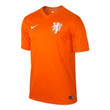 Nike Holland Dutch 2014 Home Replica Soccer Jersey (Safety Orange/Football White)